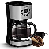 Geepas 1.5L Filter Coffee Machine | 900W Coffee Maker for Instant Coffee, Espresso, Macchiato and...