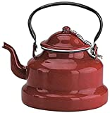 IBILI 910410 Stovetop kettle Roja 1 l of enamelled steel in red, 10 x 10 x 20 cm