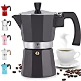 Zulay Classic Stovetop Espresso Maker for Great Flavored Strong Espresso, Classic Italian Style 5.5...
