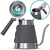 Gooseneck Kettle - Coffee Gator True Brew Coffee Kettle - Precision Spout, Integrated Thermometer,...