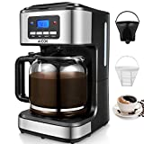 Aicok Filter Coffee Machine, 1.8 Litre Drip Coffee Maker, 60s Fast Brewing, Programmable 24hr Timer,...