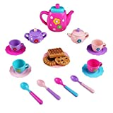 Toy Tea Set Mini Role Play with Play Food and Teapot Pretend Toys for Kids Girls Boys 3 Years Old