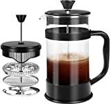 French Coffee Press, Black - 1000 ml/ 1 Liter (34 oz) Espresso and Tea Maker with Triple Filters,...