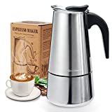 Godmorn Stovetop Espresso Maker, Italian Coffee Maker Moka Pot, 300ml/6 Cup (Espresso Cup=50ml), 430...