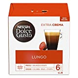 Nescafe Dolce Gusto Lungo Coffee Pods (Pack of 3, Total 48 Capsules)