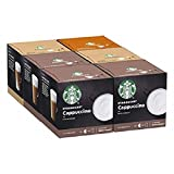 Starbucks White Cup Variety Pack by Nescafe Dolce Gusto Coffee Pods (Pack of 6, Total 72 Capsules,...