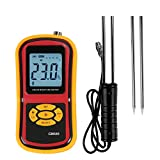 Portable Damp Digital Meter 2 Pin Grain Moisture Meter with Long Proble for Rice Coffee Wheat...
