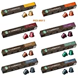 Starbucks By Nespresso Coffee Pods. Pick Any 5 Packs from 8 Blends Including: Espresso, Lungo, Decaf...