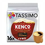 Tassimo Kenco Colombian Coffee Pods (Pack of 5, Total 80 Coffee Capsules)