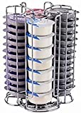 EXZACT Coffee Capsule Holder, Compatible with Tassimo Capsules (52pcs) – Rotating Pod Tower Rack...