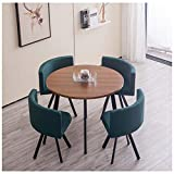Reception Tables and Chairs Coffee Table and Chair Set Modern Leisure Round Table Simple 1 Table 4...