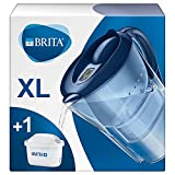 BRITA Marella XL water filter jug for reduction of chlorine, limescale and impurities, Includes 1 x...