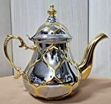 Moroccan Teapot Arabic Teapot Made in Stainless Steel - Induction Teapot with Integrated Filter and...