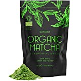 Organic Matcha Green Tea Powder - Ceremonial Grade - 120g (120 Servings) - 100% Pure Premium Ground...