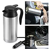 OurLeeme 750ml Stainless Steel Car Electric Kettle with Sealed Rubber Band Car Heating Cup for 12V...