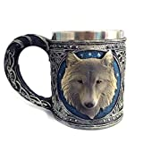 Ruiting Stainless Steel 3D Wolf Resin Cup Creative Beer Mug Cup for Drinking Tea Wolf Cup Coffee Cup