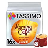 Tassimo Morning Cafe Coffee Pods (Pack of 5, Total 80 Coffee Capsules)