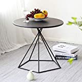 Wrought Iron End Table Round Living Room Side Table Creative Living Room Snack Coffee Table European...