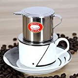 Bluelover Vietnamese-style Stainless Steel Coffee Drip Pot Filter Coffee Maker Infuser Coffee Drip...