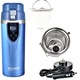 Heated Cup Auto Electric Kettle Car Heating Water Cup 12v/24v Car Travel Mug Hot Drink Unfreezing...