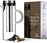 Cold Brew Coffee Maker - Large Glass Infusion Pitcher 1500ml - Iced Coffee & Iced Tea Pitcher with...