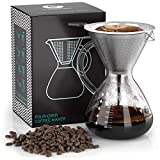 Coffee Gator Pour Over Brewer – Unlock More Flavour with a Paperless Stainless Steel Filter and...