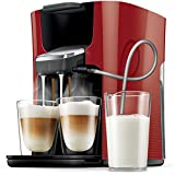 Senseo Latte Duo HD7855/80 Pod coffee machine 1L Red coffee maker - coffee makers (freestanding,...