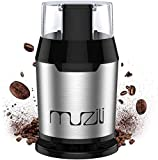 Muzili Coffee Grinder, Electric Coffee Grinder for Coffee Beans Nuts and Grains Grinder with 304...