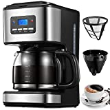 Filter Coffee Machine, 1.8 Litre Drip Coffee Maker, 60s Fast Brewing, Programmable 24hr Timer, Keep...
