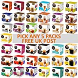 Nescafe Dolce Gusto Coffee, Tea, Chocolate Pods. Pick Any 5 Packs from 37+ Blends Inc: Espresso,...