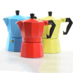 Italian Coffee Makers Of Different Colours