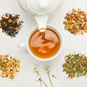 how much theine is in tea